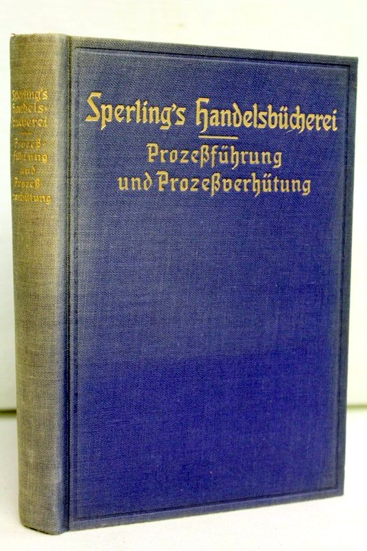 Prozeßführung und Prozeßverhütung Sperling