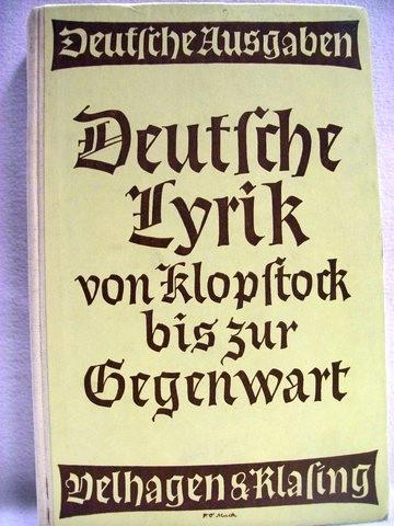 Deutsche Lyrik von Klopstock bis zur Gegenwart deutsche Ausgaben Band 266