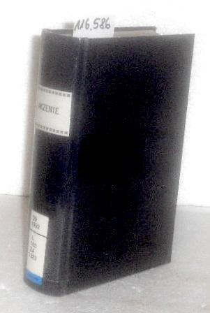 Akzente. - Zeitschrift für Literatur. - 39. Jg. / 1992 (gebundener Jg.-Bd.)