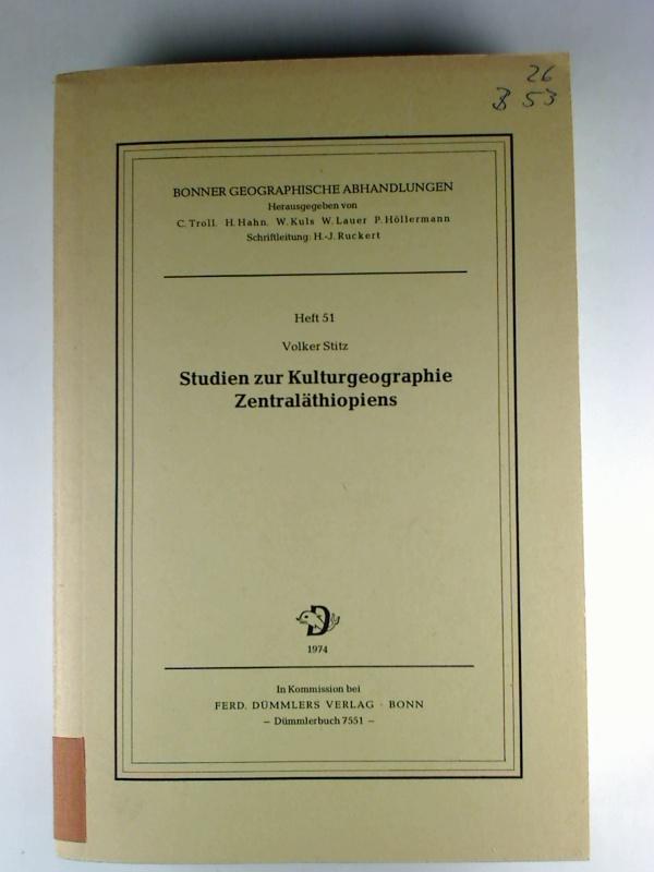 Studien zur Kulturgeographie Zentraläthiopiens. (Bonner geographische Abhandlungen ; 51)