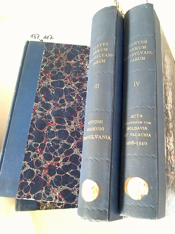 Fontes Rerum Transylvanicarum. Tomus I - IV.
