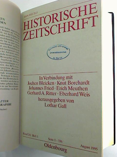 Historische Zeitschrift. - Band 261 / 1995 (2. Halbjahresband, Heft 1 - 3)