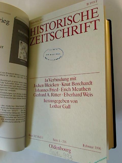 Historische Zeitschrift. - Band 262 / 1996 (1. Halbjahresband, Heft 1 - 3)