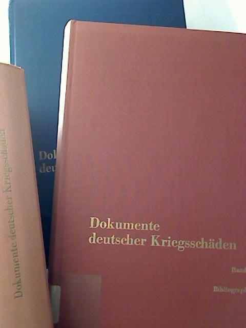 Dokumente deutscher Kriegsschäden. - Evakuierte, Kriegsgeschädigte, Währungsgeschädigte; die geschichtliche und rechtliche Entwicklung. Bd. I - V, 1. u. 2. Beiheft  (ohne Bd. IV/2 - 9 Bände)