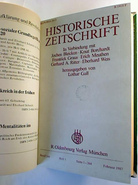 Historische Zeitschrift. - Band 244 / 1987 (1. Halbjahresband, Heft 1 und 3 / Heft 2 fehlt)