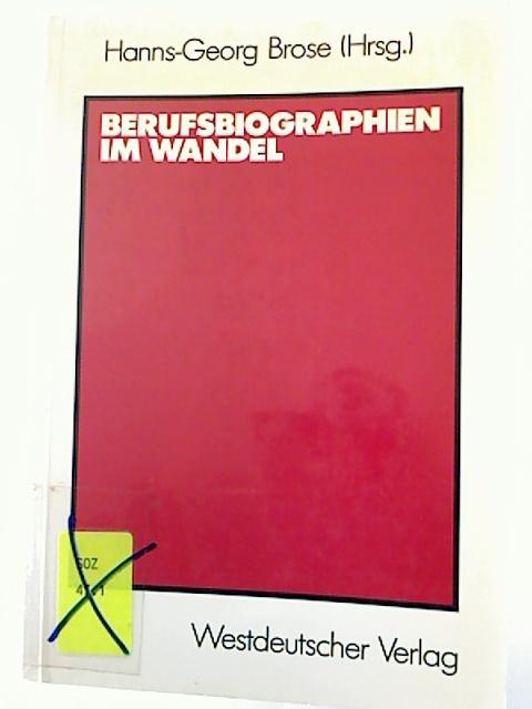 Berufsbiographien im Wandel. 1. Aufl.