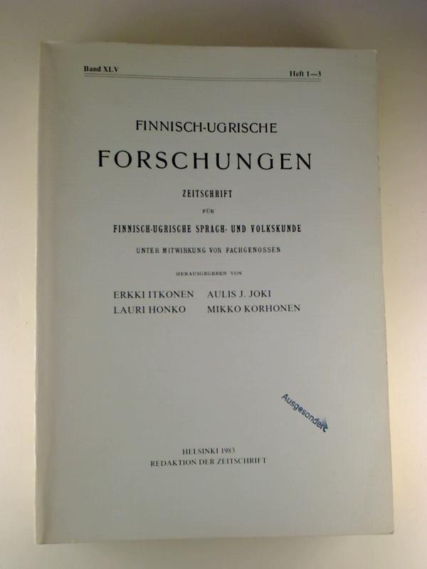 Finnisch-Ugrische Forschungen. - 45. Band / 1983, Heft 1-3 (in einem Heft / Single Issue).