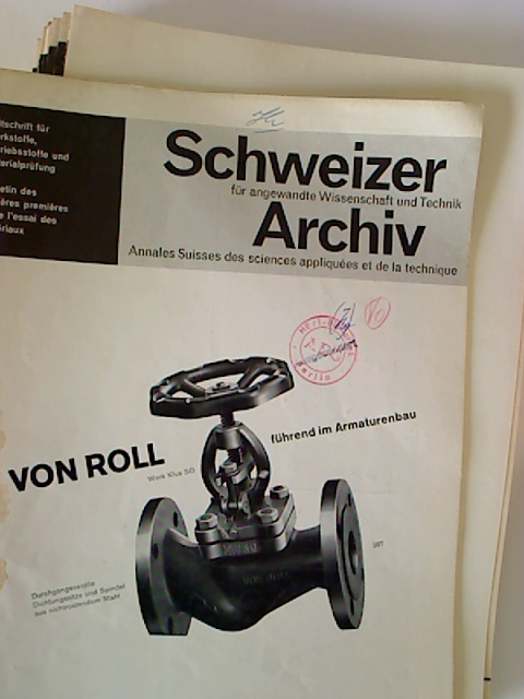 Schweizer Archiv für angewandte Wissenschaft und Technik. - 32. Jg. / 1966, Nr. 1 - 12 (12 Einzelhefte + Jahresinhaltsverz.)
