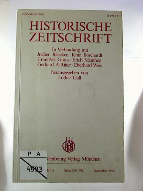 Historische Zeitschrift. - Band 247 / 1988, Heft 3