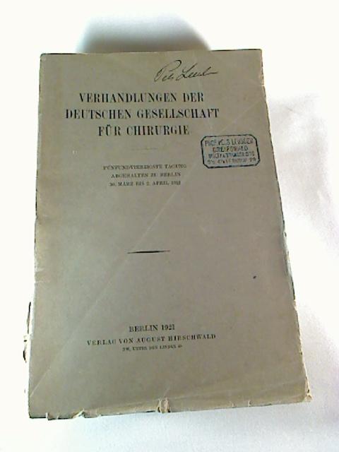 Verhandlungen der Deutschen Gesellschaft für Unfallheilkunde Versicherungs-, Versorgungs- und Verkehrsmedizin : XXI. Tagung 1957 in Köln. 1. Aufl.