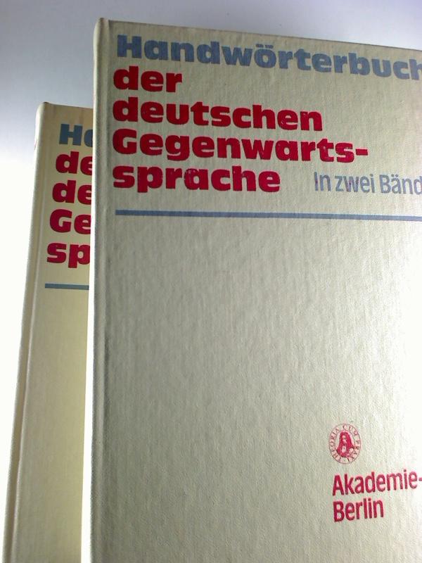 Handwörterbuch der deutschen Gegenwartssprache. (2 Bände) 1. Aufl.
