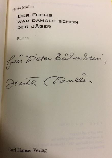 Der Fuchs war damals schon der Jäger. Roman. 2. Auflage - Müller, Herta.