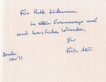 Das feine Schweigen. Historische Essays. 1. Auflage - Stern, Fritz.