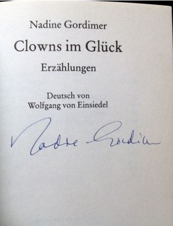Clowns im Glück. Erzählungen. Ftb  5722 27. - 56. Tausend - Gordimer, Nadine.