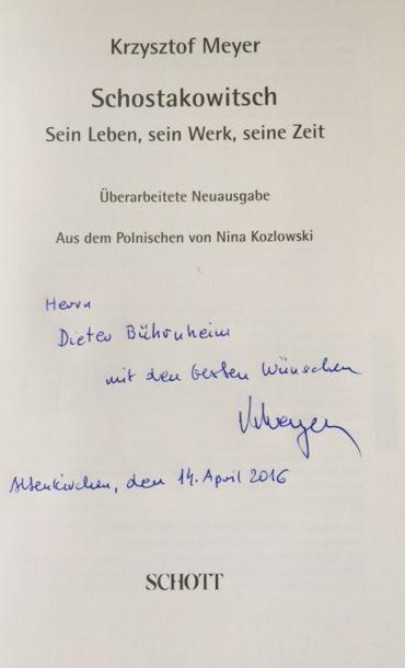 Schostakowitsch. Sein Leben, sein Werk, seine Zeit. Überarbeitete Neuausgabe. - Meyer, Krzysztof.