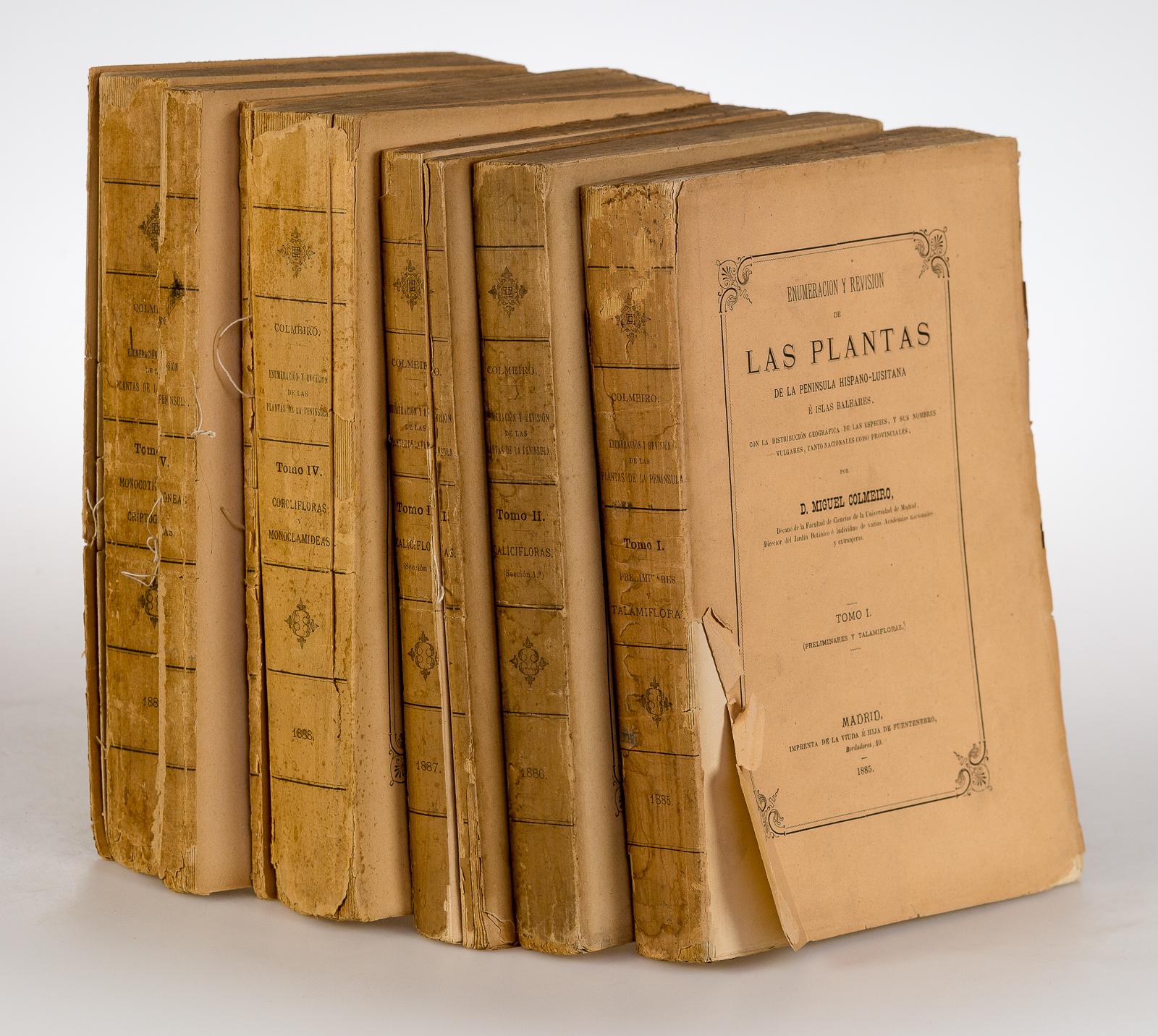 Enumeracion y Revision de Las Plantas. De la Peninsula Hispano-Lusitana e Islas Baleares. Vol. 1-5. [5 Vols.].