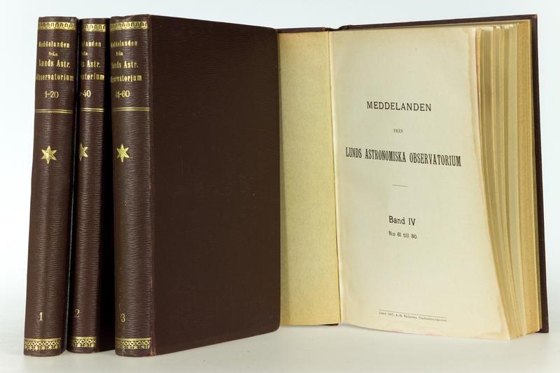 Meddelanden fran Lunds astronomiska observatorium. Bd.1-4: No.1-80.