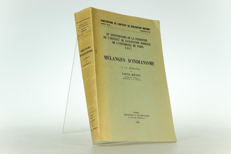 Melanges d´Indianisme. 40e Anniversaire de la Fondation de L´Institut de Civilisation Indienne de L´Universite de Paris 1967. (=Publications de L´Institut de Civilisation Indienne, Serie IN-8, Fascicule 28).
