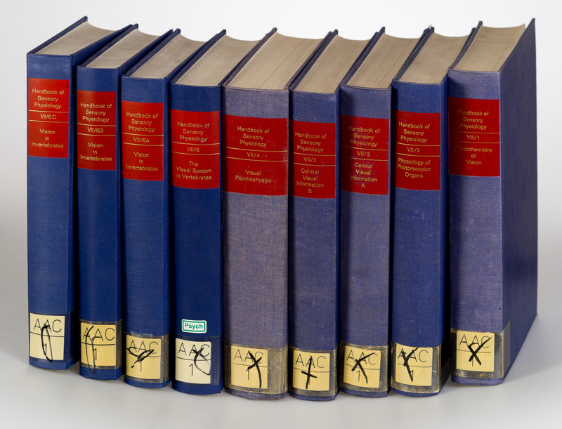 Handbook of Sensory Physiology. Vol. VII / 1-6 in 9 Parts. [9 Vols.]. Vol. VII/1: Photochemistry of Vision. Vol. VII/2: Physiology of Photoreceptor Organs. Vol. VII/3: Central Processing of Visual Information A: Integrative Functions and Comparative Data.