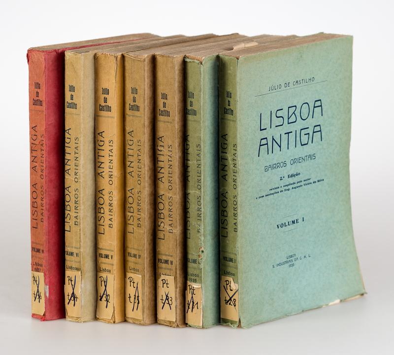 Lisboa antiga bairros orientalis. Vol I-VII [of 12]. 2. ed.