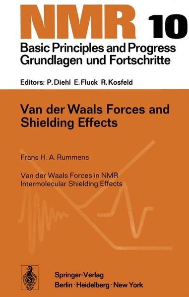 Van der Waals Forces and Shielding Effects. (=NMR Basic Principles and Progress; Vol. 10).