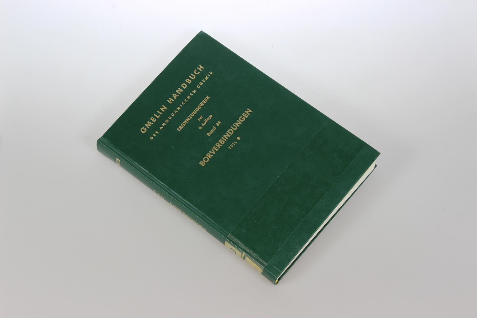 Gmelins Handbuch der Anorganischen Chemie. Ergänzungswerk zur 8. Auflage. Bd.34: Borverbindungen, Teil 9: Bor-Halogen-Verbindungen, Teil 1.