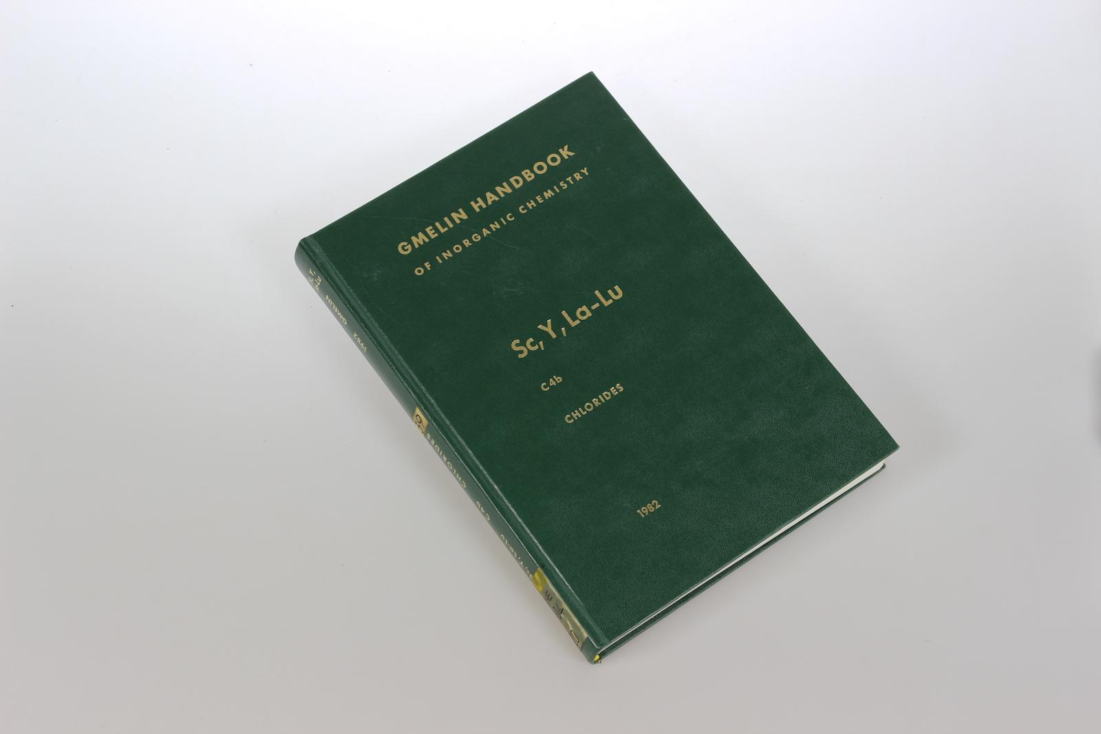 Gmelin Handbook of Inorganic Chemistry. System Number 39: Sc, Y, La-Lu. Rare Elements.. Part  C 4b: Data on Individual Chlorides. 8th ed.