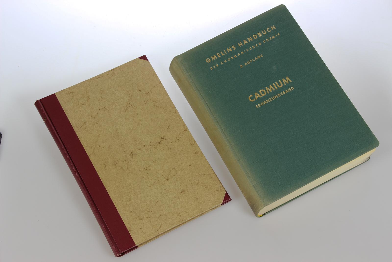 Gmelin Handbuch der Anorganischen Chemie. System Nummer 33: Cadmium + Ergänzungsband. [2 Bde]. 8. völlig neu bearb. Aufl.