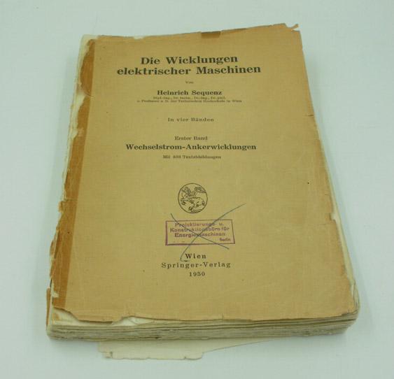 Die Wicklungen elektrischer Maschinen - 3 Bände : 1. Wechselstrom-Ankerwicklungen / 2. Wenderwicklungen / 3. Wechselstrom-Sonderwicklungen.