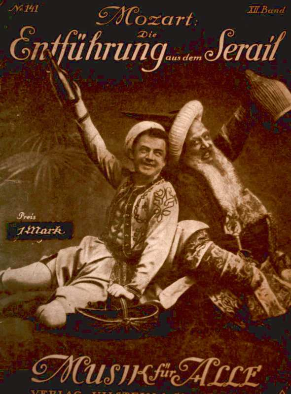 Die Entführung aus dem Serail [Monatshefte zur Pflege volkstümliche Musik] (Sammlung: Musik für alle)