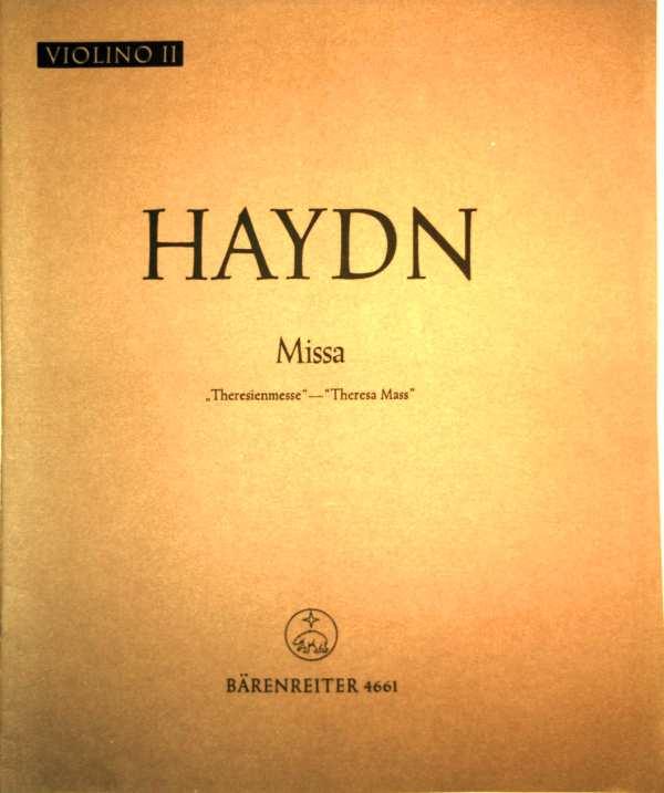 Haydn - Missa - Theresienmesse, Theresa Mass - Violino II (Edition Bärenreiter Nr. 4661)