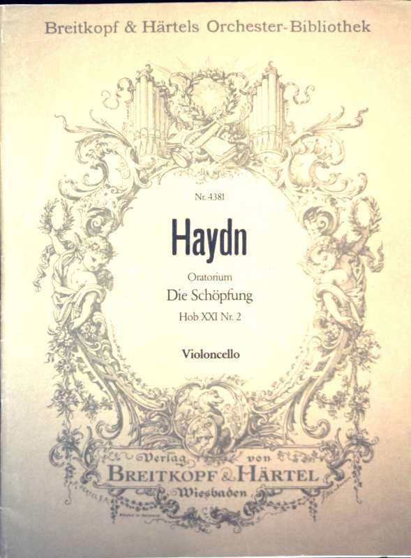 Haydn - Oratorium: Die Schöpfung - Hob XXI:2 - Violoncello (Breitkopf und Härtels Orchester-Bibliothek Nr. 4381)