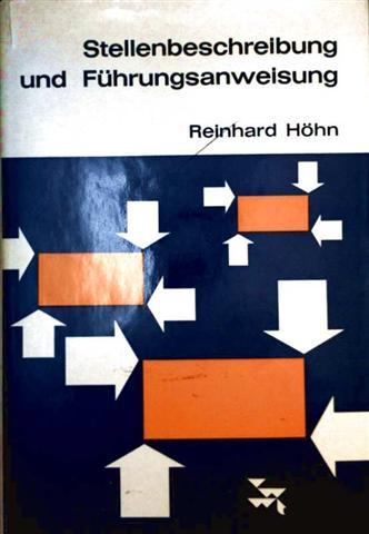 Stellenbeschreibung und Führungsanweisung. Die organisatorische Aufgabe moderner Unternehmensführung