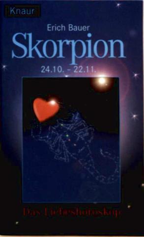 Skorpion. 24.10.- 22.11. Das Liebeshoroskop