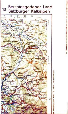 Berchtesgadener Land, Salzburger Kalkalpen- Touristenkarten mit Kurzführer - Maßstab 1:100.000 - Blatt 10