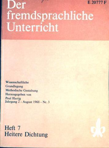 Der fremdsprachliche Unterricht Heft 7 - Heitere Dichtung (Jahrgang 2 - Nr. 3)