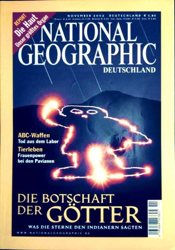 National Geographic, Ausgabe November 2002 - Die Botschaft der Götter: was die Sterne den Indianern sagten