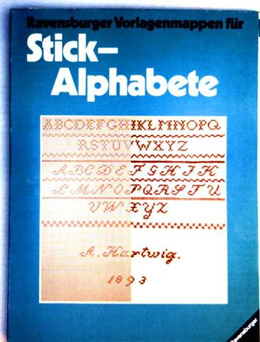 Ravensburger Vorlagemappen für Stick-Alphabete