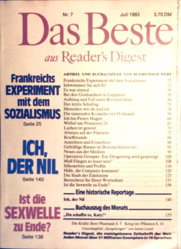Das Beste aus Readers Digest, 1983, Nr. 07 Juli - ich, der Nil