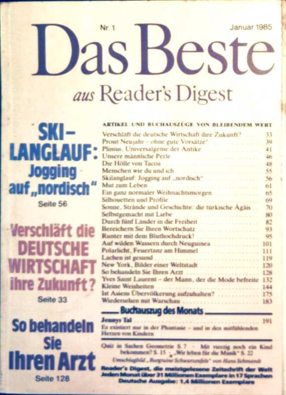 Das Beste aus Readers Digest, 1985, Nr. 01 Januar - Ski-Langlauf Joggen auf nordisch