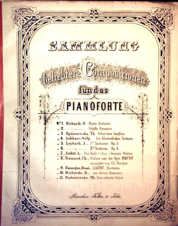 Sammlung beliebter Compositionen für das Pianoforte. Il Bacio - Der Kuss, No.7
