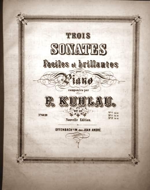 Trois sonates faciles et brillantes pour Piano composees par F.Kuhlau. OP.59 Nouvelle Edition - SONATE II, Allegro