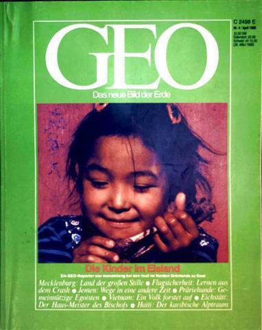 Geo Magazin 1988, Nr. 04 April - die Kinder im Eisland, Ein GEO-Reporter war monatelang bei den Inuit im Norden Grönlands zu Gast