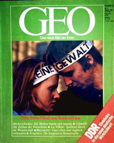 Geo Magazin 1990, Nr. 01 Januar - die friedlichen Rebellen, DDR Einblicke in die neue deutsche Wirklichkeit