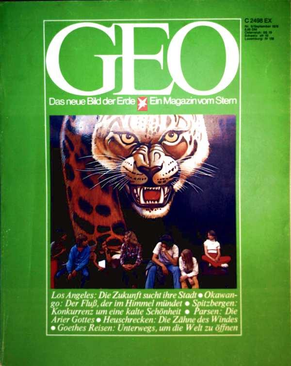 Geo Magazin 1978, Nr. 09 September - Los Angeles: die Zukunft sucht ihre Stadt, Okawango: der Fluss der im Himmel mündet, Spitzbergen: Konkurrenz um eine kalte Schönheit...
