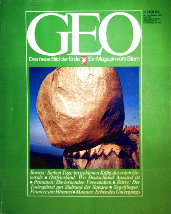 Geo Magazin 1978, Nr. 10 Oktober - Burma: sieben Tage im goldenen Käfig des roten Generals, Ostfriesland: wo Deutschland Ausland ist, Primaten: die lernenden Verwandten...