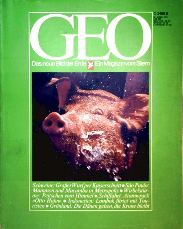 Geo Magazin 1979, Nr. 05 Mai - Schweine: großer Wurf per Kaiserschnitt, Sao Paulo: Mammon und Macumba in Metropolis, Wirbelstürme: Peitschen vom Himmel...