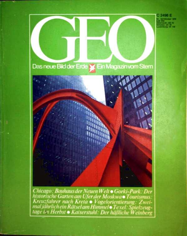 Geo Magazin 1979, Nr. 10 Oktober - Chicago: Bauhaus der Neuen Welt, Gorki Park: der historische Garten am Ufer der Moskwa, Tourismus: Kreuzfahrer nach Kreta...
