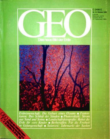 Geo Magazin 1982, Nr. 10 Oktober - Erdwissenschaft: die Geburt eines Ozeans, Fastenkuren: das Schloss der Sünden, Photovoltaik Strom aus Sand und Sonne...