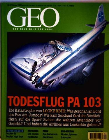 GEO Magazin 2000, Nr. 02 Februar - Todesflug PA 103, die Katastrophe von Lockerbie, Trinkwasser, Moschusochsen, Afrika-Triologie III, Insekten-Esser